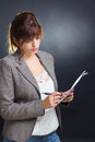 Paperwork business woman dealing with Stock Photo