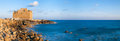 Paphos castle cyprus panoramic photo Royalty Free Stock Images