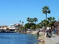 Paphos harbour fishermen people enjoying life down at the at cyprus tourists boating Royalty Free Stock Photos