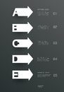 Papierowi prości szablony a i listy b c d e projekt dla infographics Zdjęcie Royalty Free