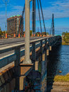 Papineau Lablanc bridge details Stock Photography