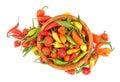 Paprica dei peperoni di peperoncino rosso Fotografie Stock Libere da Diritti
