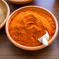 Paprika in bowl Royalty Free Stock Photo