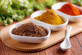 Paprika and other spices in the bowl Stock Photography