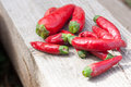 Paprika red hot chili peppers closeup Stock Photos