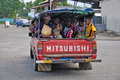 Papua new guinea people truck full of rabaul Royalty Free Stock Photos