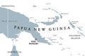 Papua New Guinea political map Royalty Free Stock Photo