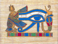 Papyrus ancient egyptian with the eye of horus Stock Photos