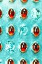 Paquete vacío de las píldoras Imagenes de archivo