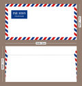 Par Avion Postal Envelope Stock Image