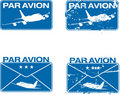 Par Avion Rubber stamp 03 Stock Photo