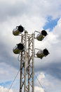 Par spotlight on a lighting system for the stage outdoor Royalty Free Stock Photo