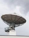 Parabolic satellite radar antenna dish for radio television Royalty Free Stock Photo