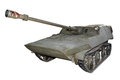 Paraborne self propelled anti tank gun for design Stock Photo