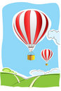 Parachute on air Royalty Free Stock Images
