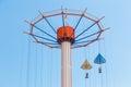 Parachute Drop Ride at Tokyo Dome Royalty Free Stock Photo