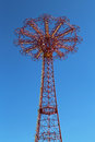 Parachute jump tower famous coney island landmark in brooklyn new york march on march it has been called the eiffel Royalty Free Stock Photos