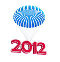 Parachute new year's 2012 Stock Photo