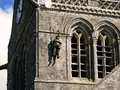 Parachutist in bell tower, Normandy Royalty Free Stock Photos