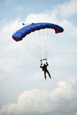 Parachutists jumping athletes Royalty Free Stock Photo