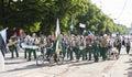 Parade of Estonian national song festival in Tallinn, Estonia Royalty Free Stock Photo