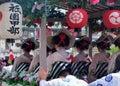 Parade of flowery Geisha girls, Kyoto Japan. Royalty Free Stock Photo