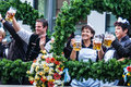 Parade of the hosts of the wiesn tents oktoberfest Royalty Free Stock Images