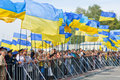 Parade on the Independence Day of Ukraine Stock Photography