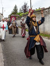 Parade of Medieval Characters Royalty Free Stock Images