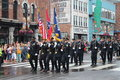 Parade op broadway in nashville tennessee Royalty-vrije Stock Afbeelding
