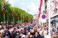 Parade in oslo on th may norwegian constitution day is the national day of norway and is an official national holiday observed Royalty Free Stock Photo