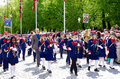 Parade in oslo on th may norwegian constitution day is the national day of norway and is an official national holiday observed Stock Photos