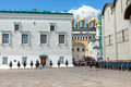 Parade of presidential guards in Moscow Kremlin Royalty Free Stock Photography