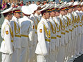 Parade of victory ukraine kiev may ceremonial at kiev main street khreshchatyc dedicated to the th anniversary in great patriotic Stock Photo