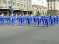 Parade of victory ukraine kiev may ceremonial at kiev main street khreshchatyc dedicated to the th anniversary in great patriotic Royalty Free Stock Photos