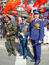 Parade of victory ukraine kiev may ceremonial at kiev main street khreshchatyc dedicated to the th anniversary in great patriotic Stock Photos