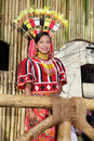 Parading tribal beauty contest girl Royalty Free Stock Photo
