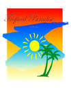 Paradis tropical Photo stock