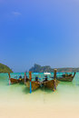 Paradise beach of koh phi phi in thailand Royalty Free Stock Images