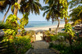 Paradise beach in Nosy Be, Madagascar Royalty Free Stock Photo