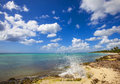 Paradise beach panorama of caribbean Stock Photography