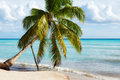 Paradise beach in Saona island, Dominican Republic Royalty Free Stock Photo