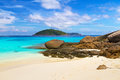 Paradise beach of similan islands thailand Stock Photography
