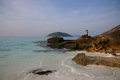 The paradise beach on tropical island with crystal clear sea si similan thailand Royalty Free Stock Images