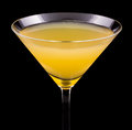 Paradise cocktail is a that contains gin apricot brandy and orange juice Stock Image
