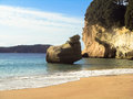 Paradise hidden beach gorgeous secret in new zealand Royalty Free Stock Image