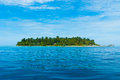 Paradise island blue sea and blue sky Stock Image