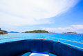 A paradise with perfect crystal clear sea on a speed boat similan islands andaman thailand Stock Images