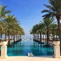 Paradise swimming pool in oman oman Royalty Free Stock Photo