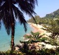 Paradise in thailand blue sea white sand Stock Images